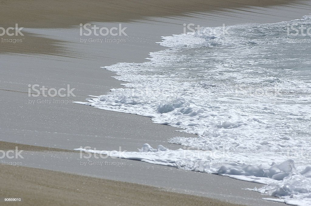 Wave on the beach royalty-free stock photo