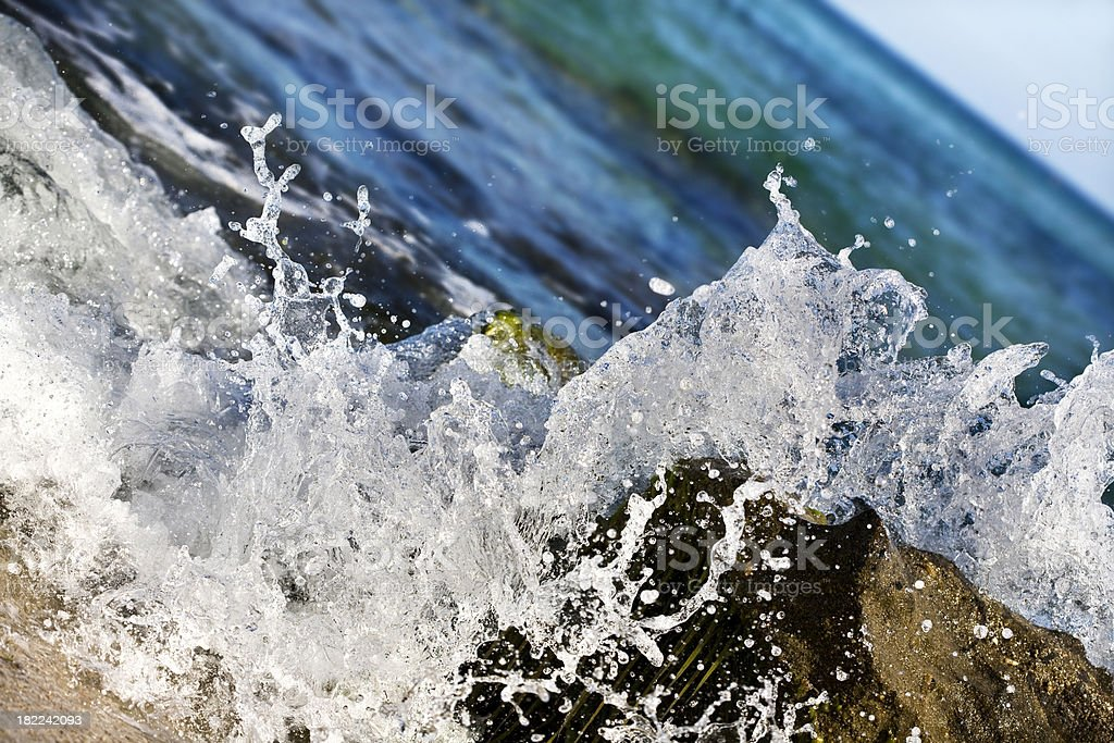 Wave on the rocks royalty-free stock photo
