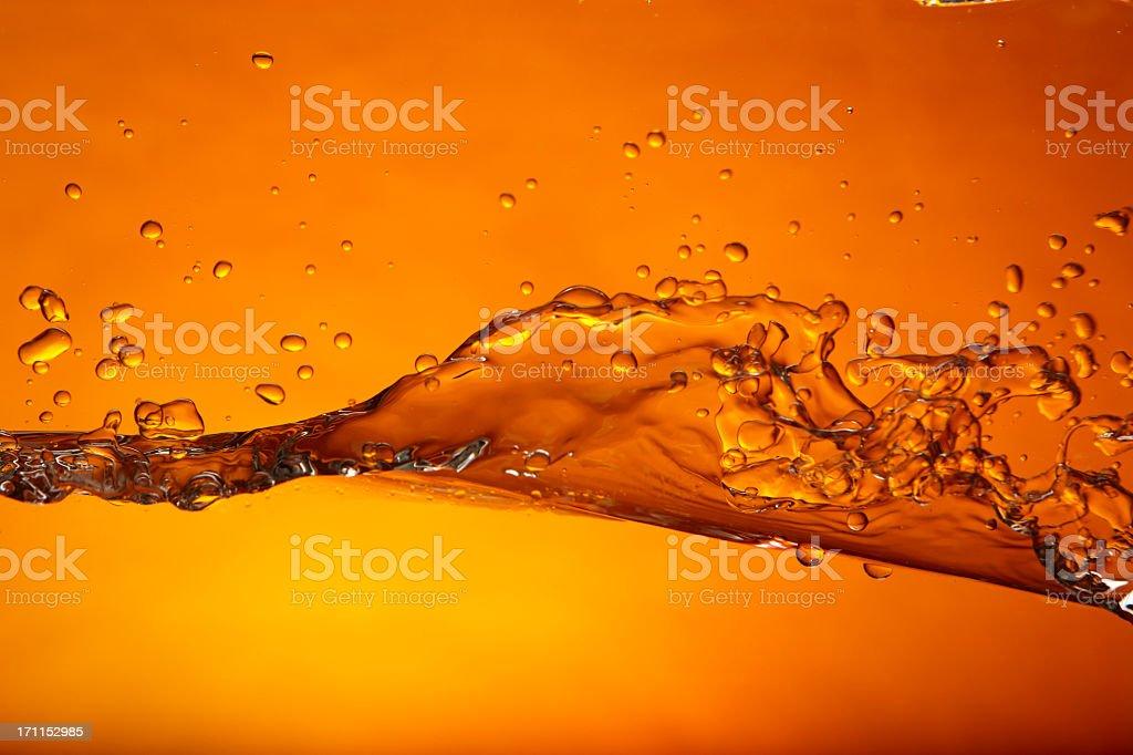 Wave orange stock photo