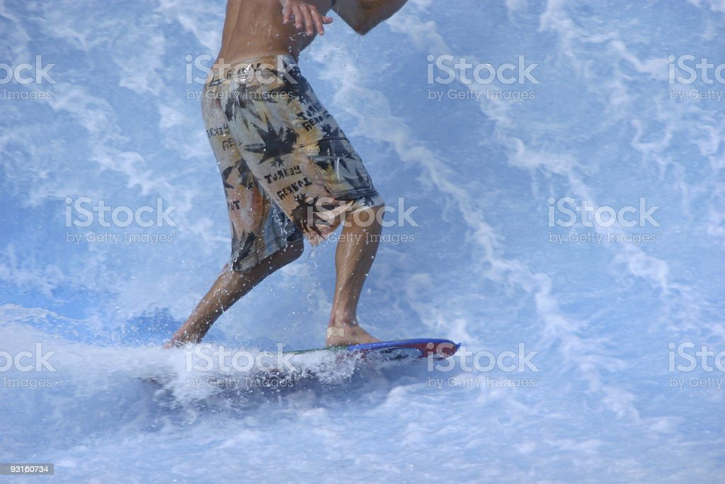 Wave park surfer royalty-free stock photo