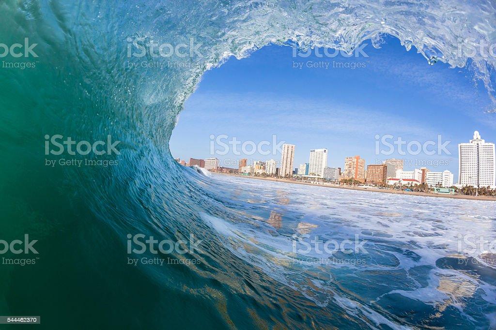 Wave Swimming Ocean Durban stock photo