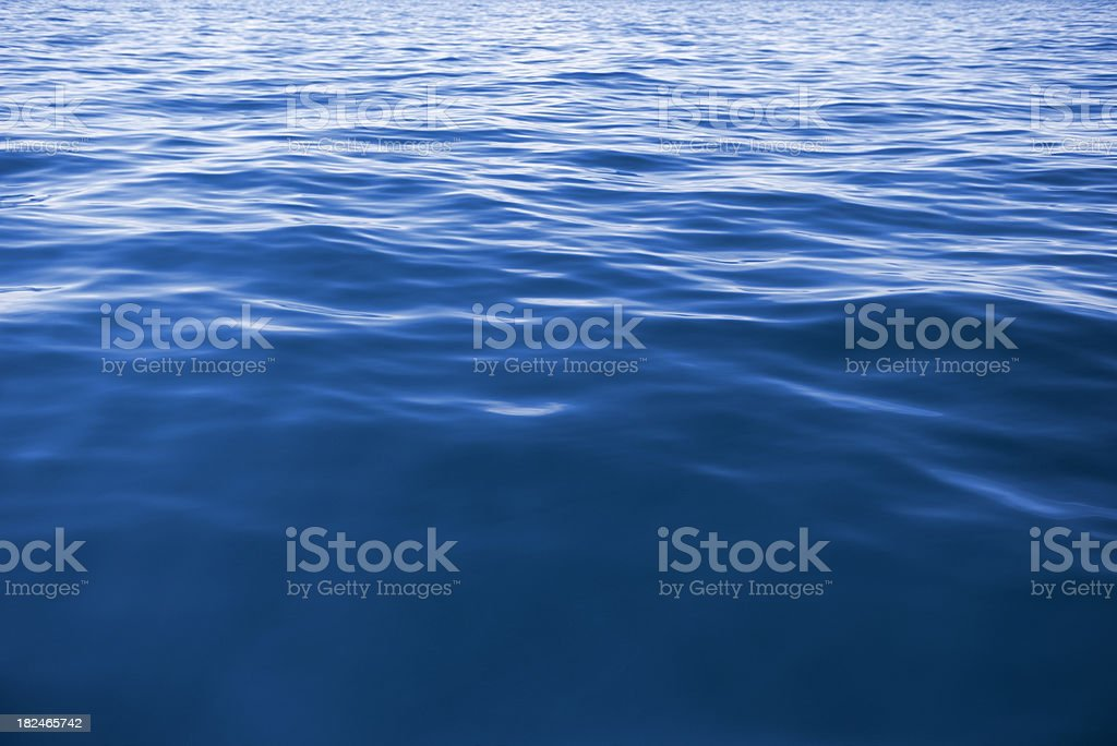 Wave Texture Background - Deep Blue (XXXL) stock photo
