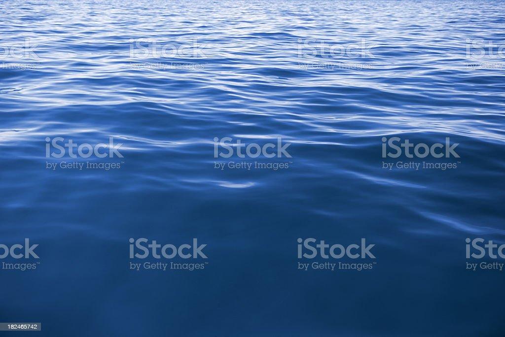 Wave Texture Background - Deep Blue (XXXL) stock photo