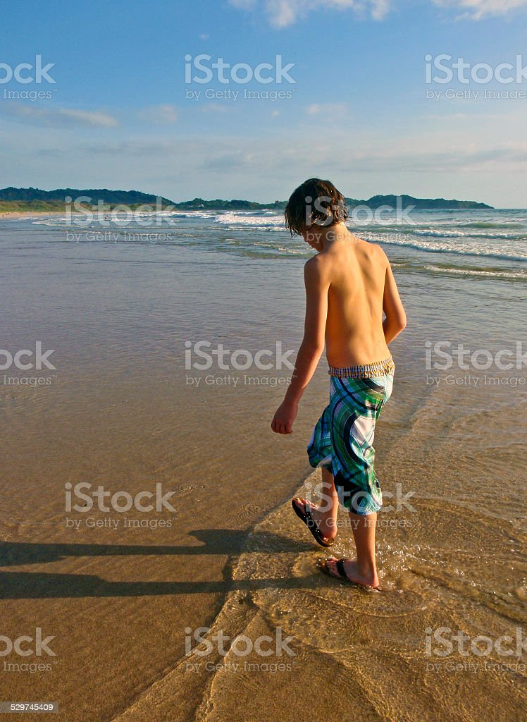 Wave Walking stock photo
