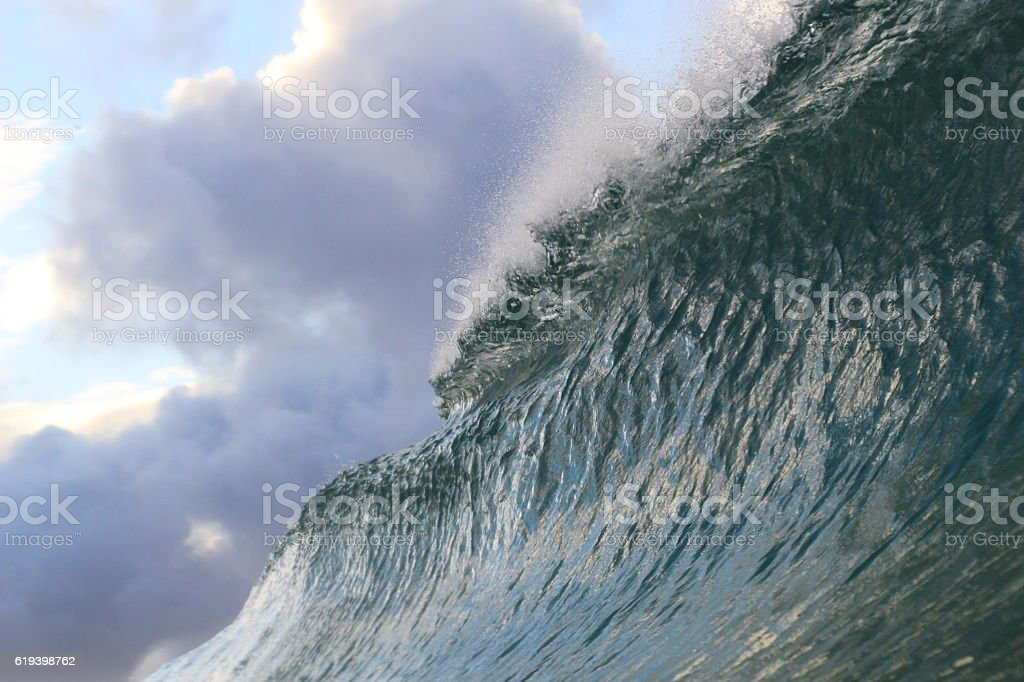 Wave Wall stock photo