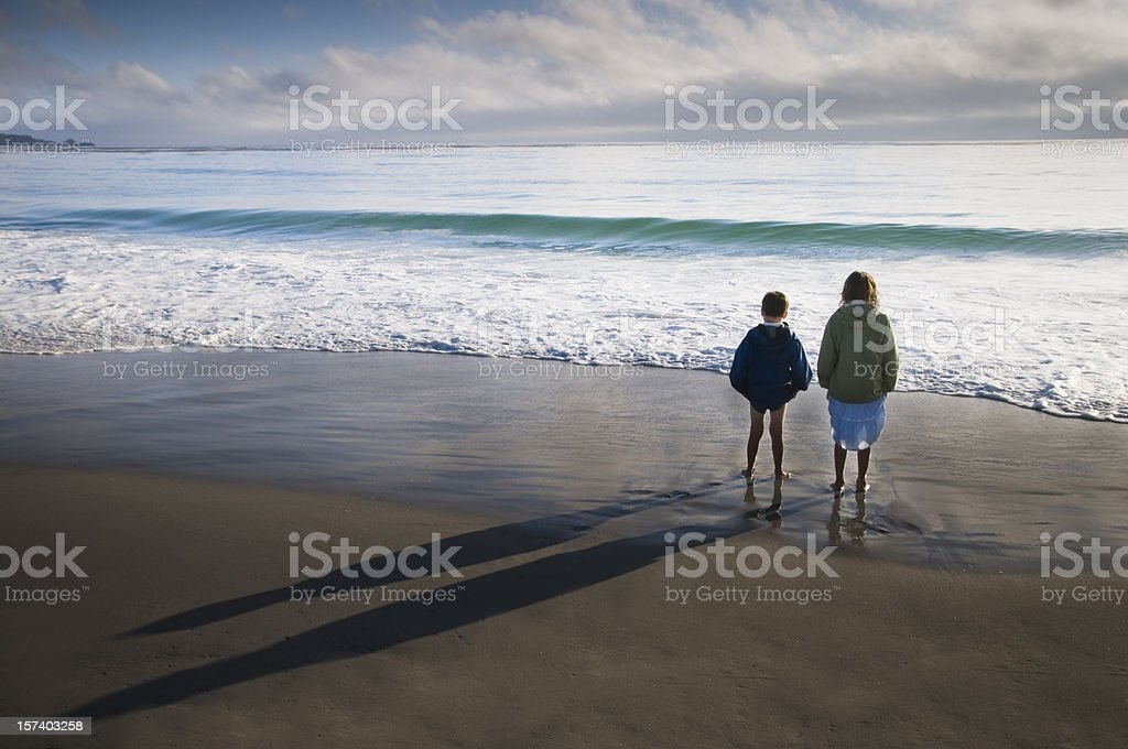 Wave Watchers royalty-free stock photo