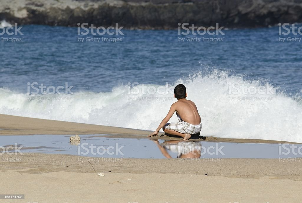 wave watching royalty-free stock photo