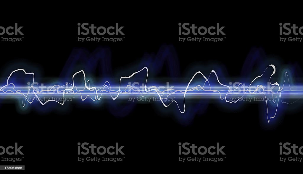 Waveform abstract royalty-free stock photo