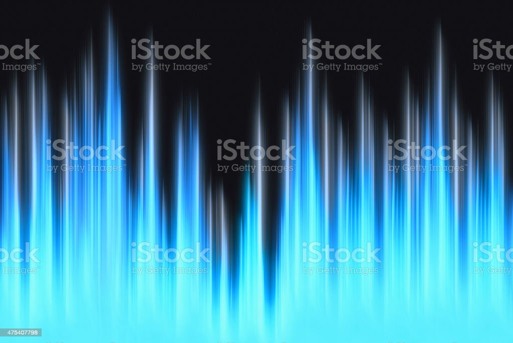 waveform blue lights with copy space stock photo