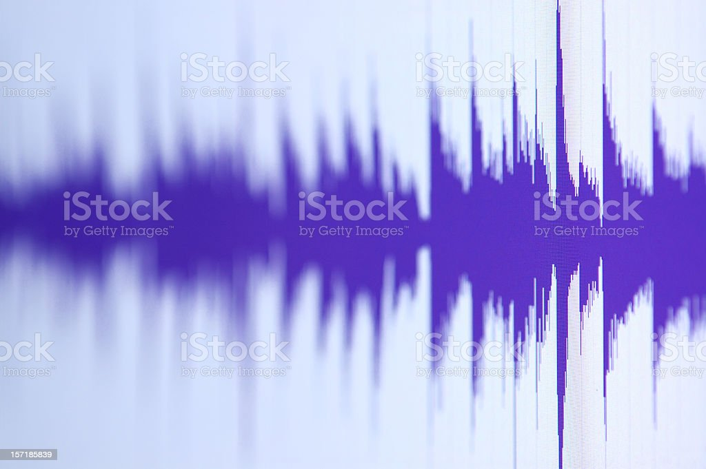 Waveform in Blue royalty-free stock photo