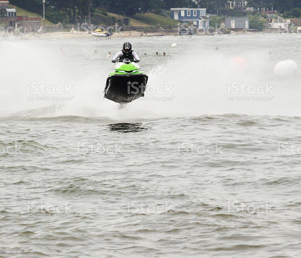 Waverunner Airborne Jet Boat Speedboat stock photo