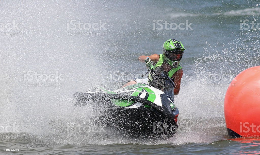 Waverunner Jet Boat Competition Sports Race royalty-free stock photo