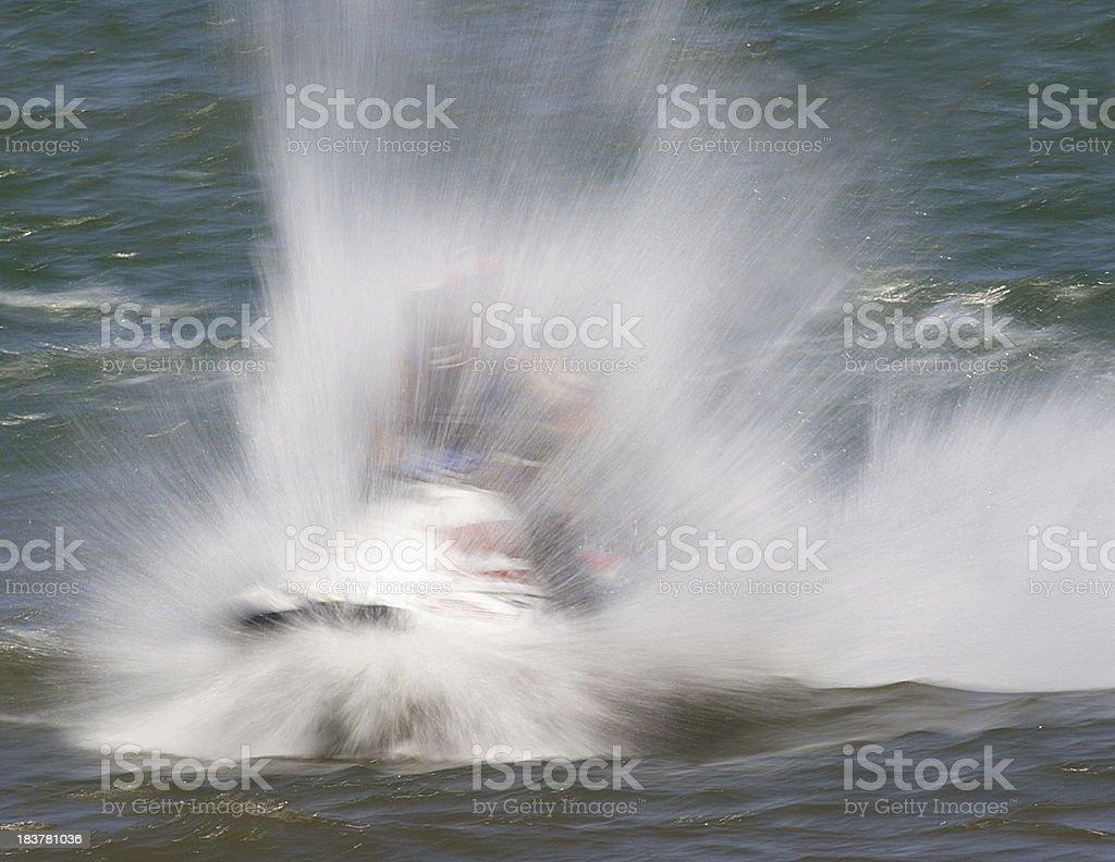 Waverunner Jet Boat Hotdogging Spray royalty-free stock photo