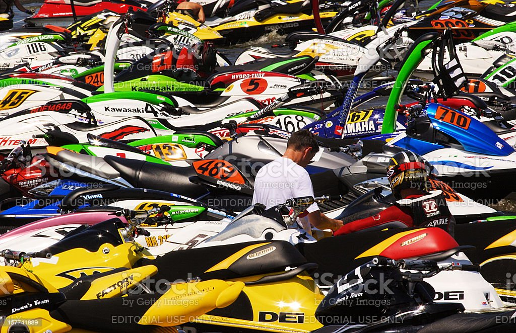 Waverunner Jet Boat Racing Speedboats royalty-free stock photo