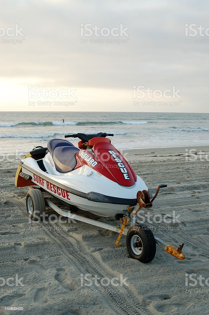 'Waverunner' rescue watercraft royalty-free stock photo