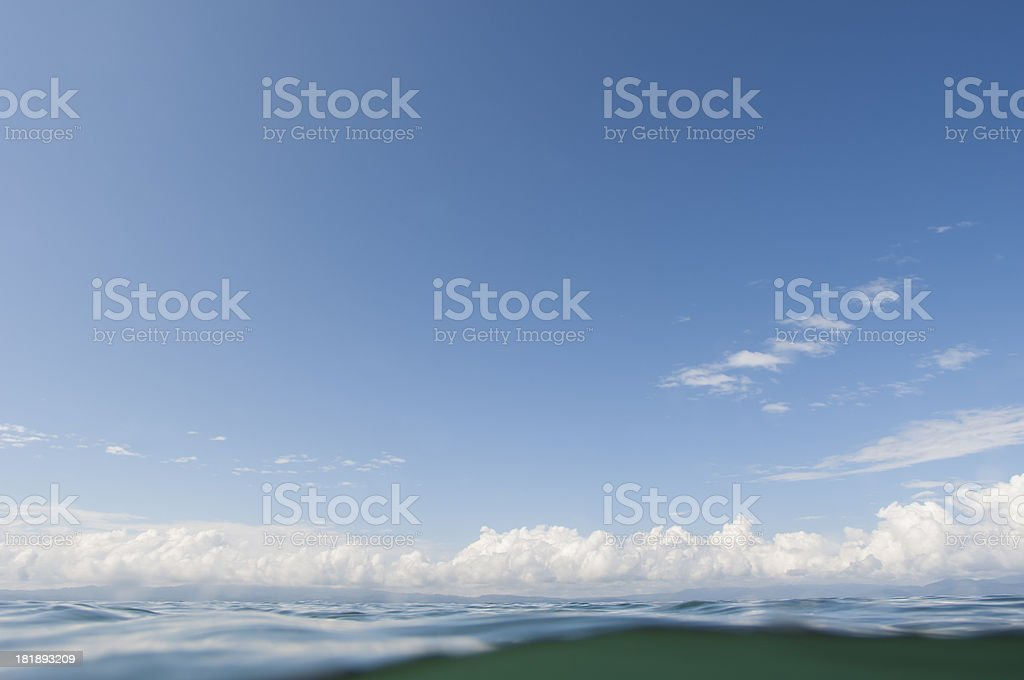 Waves and Sky Costa Rica stock photo