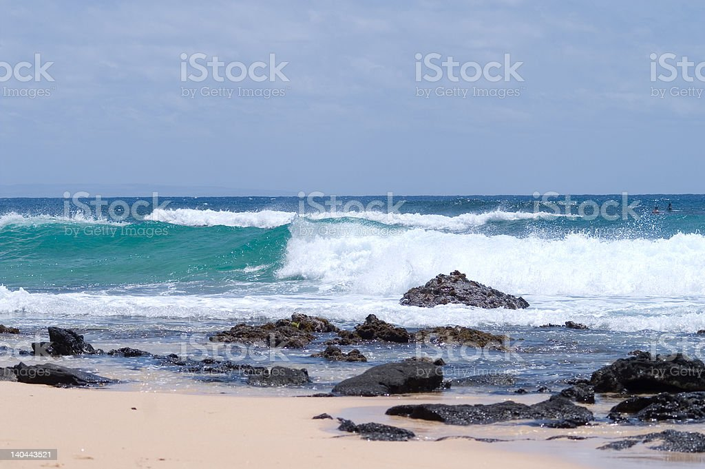 Waves and stones royalty-free stock photo