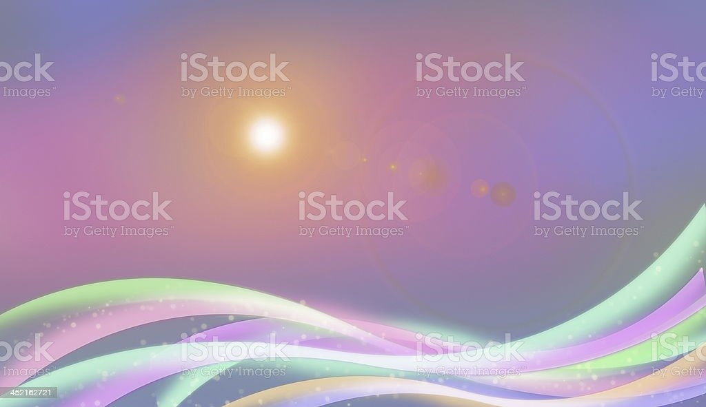 Waves And Sun Energy Graphic royalty-free stock photo