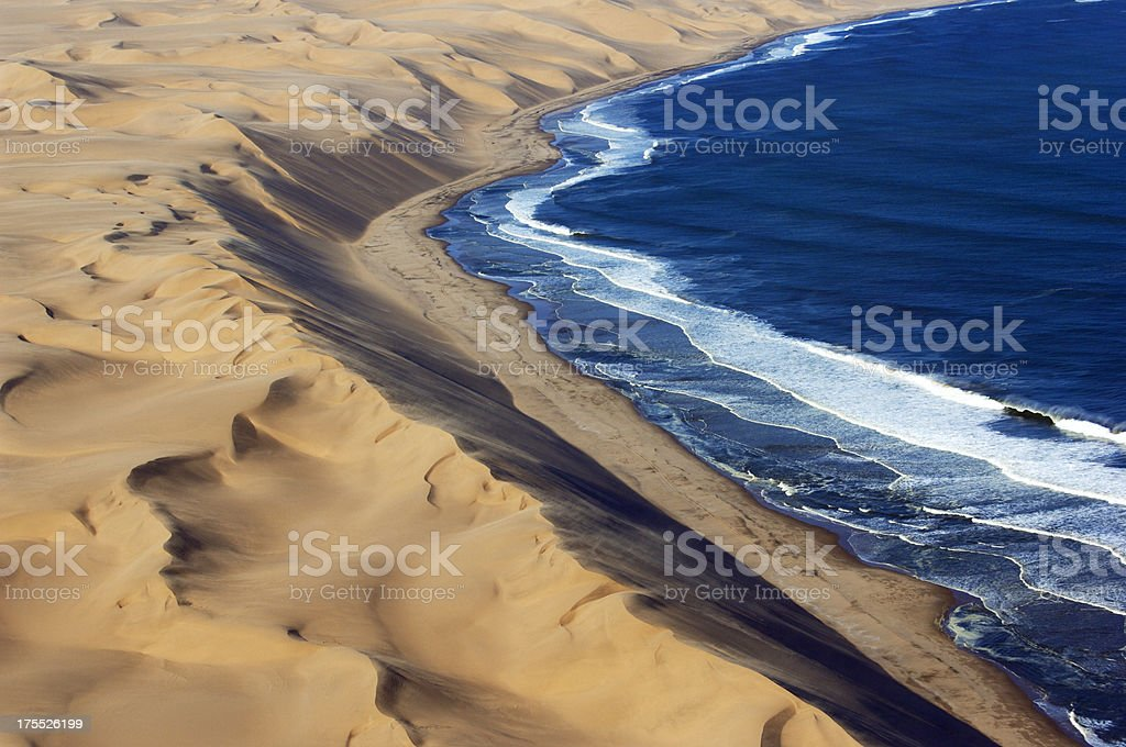 Waves and the Desert stock photo