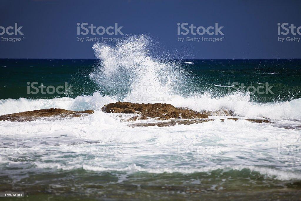 Waves at beach stock photo