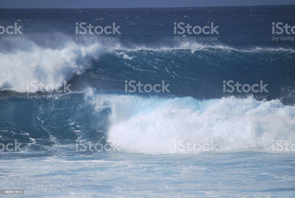 Waves at Hookipa Beach Park in Maui stock photo