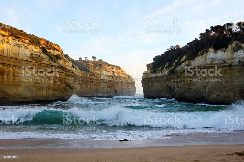 Waves at Lord Ard Gorge royalty-free stock photo