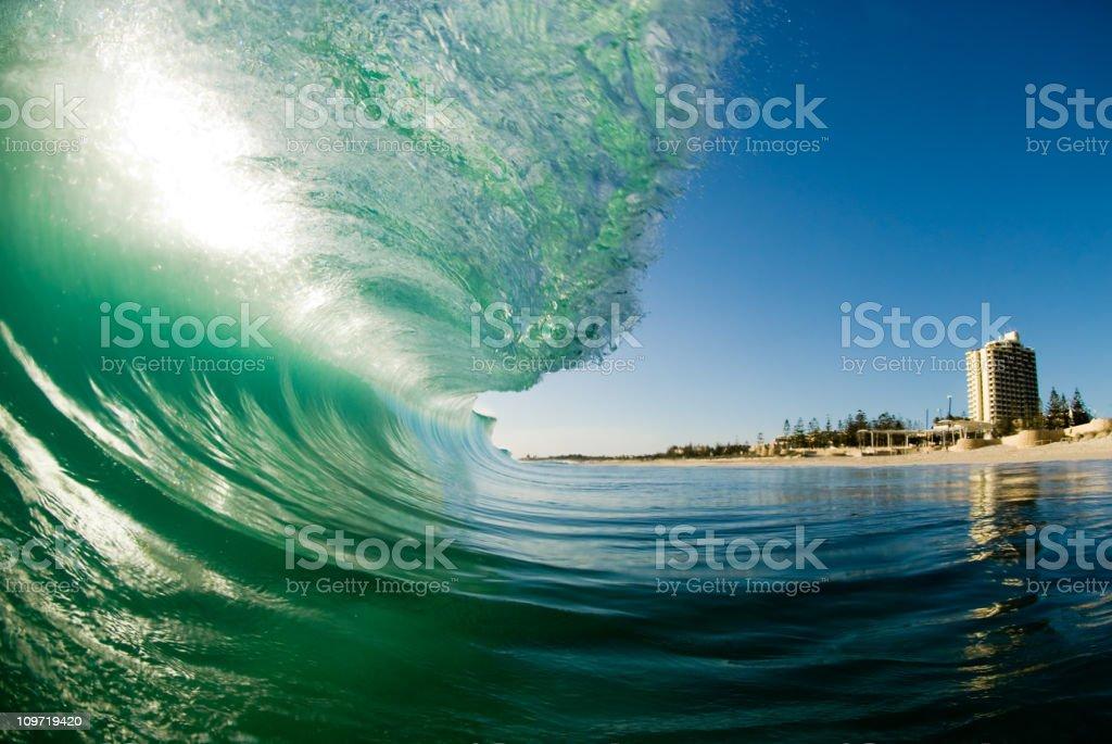 Waves at Scarborough Beach stock photo