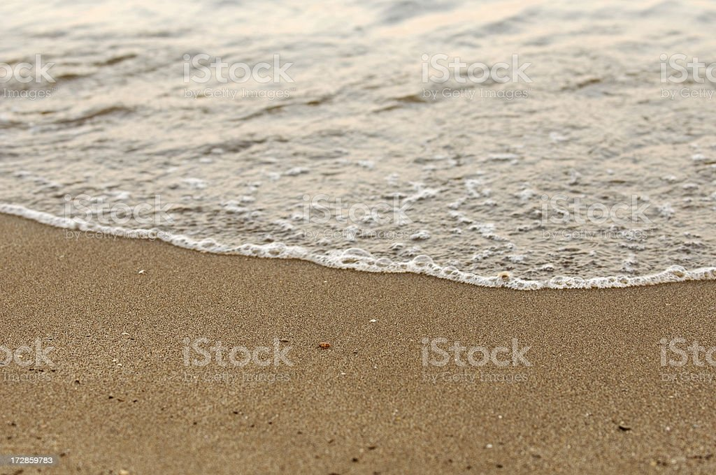 Waves at  the beach royalty-free stock photo