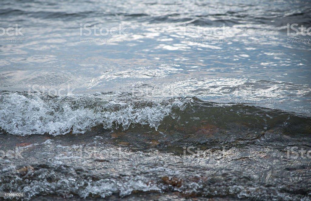 Waves at the seashore. stock photo