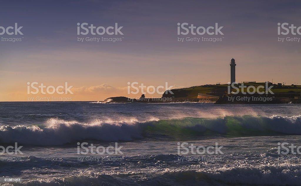 Waves at Woolongong stock photo