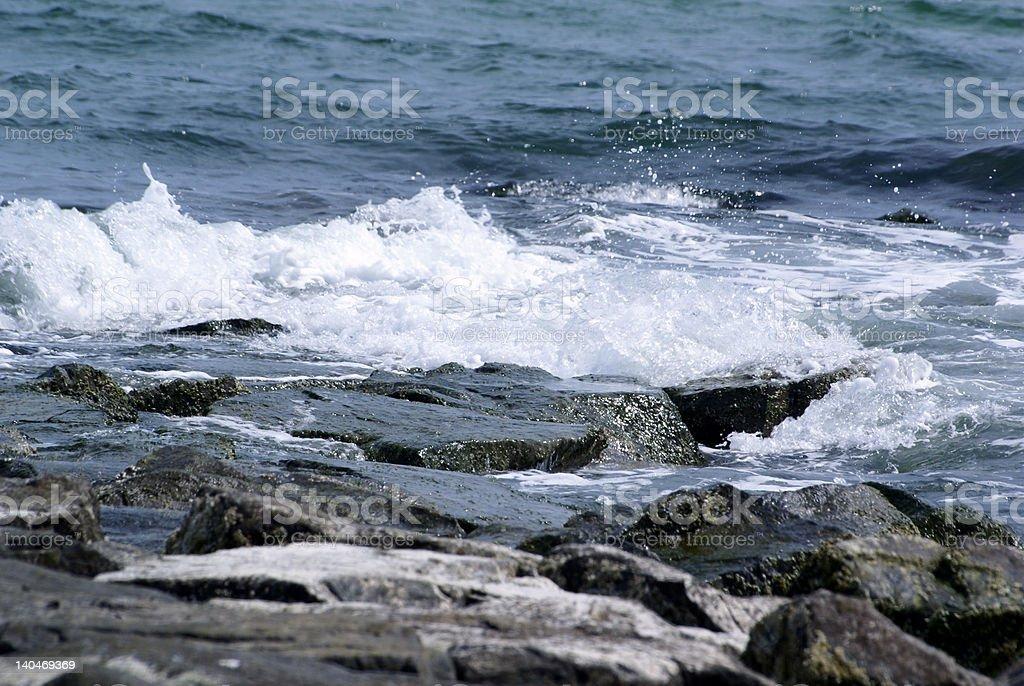 Waves Crash stock photo