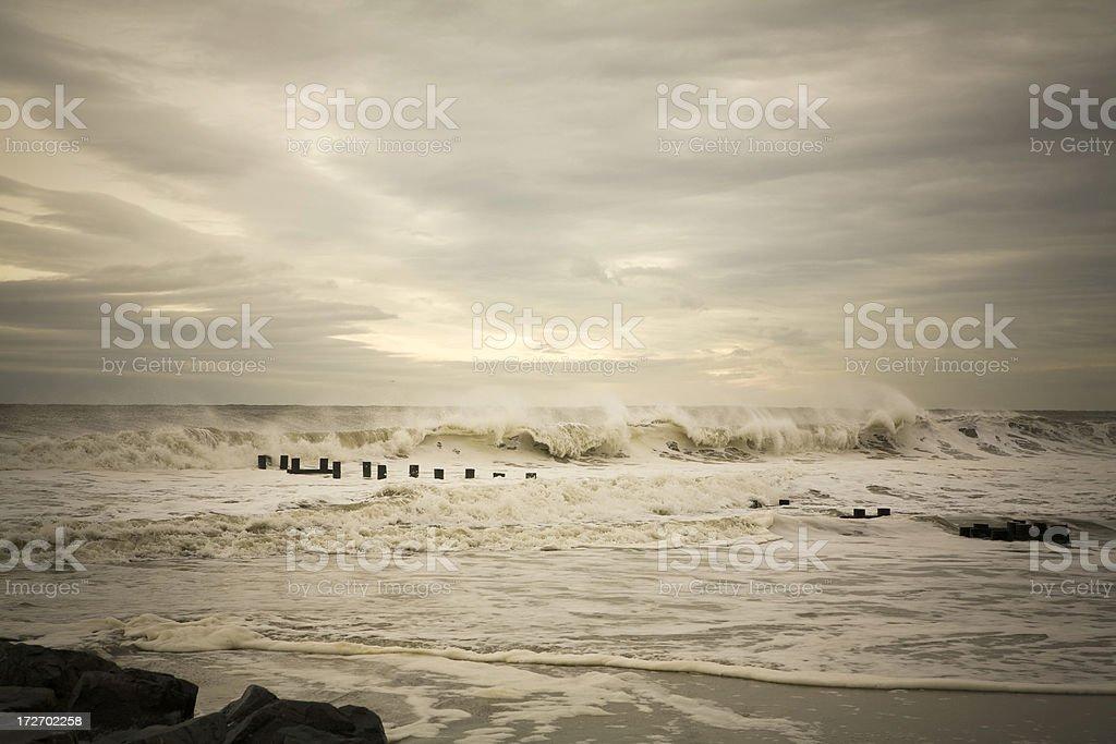 Waves crashing on the Atlantic shore. royalty-free stock photo