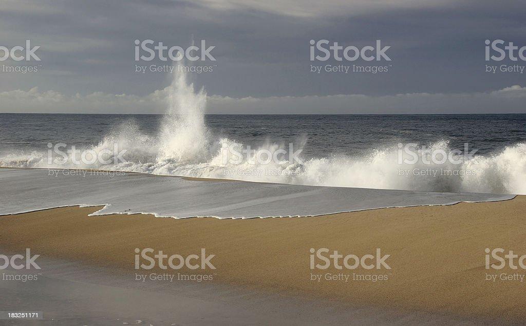 Waves Crashing on the Beach stock photo