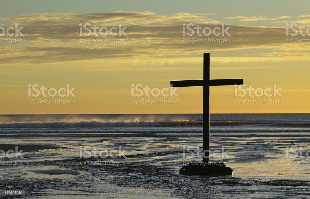 Waves Cross stock photo