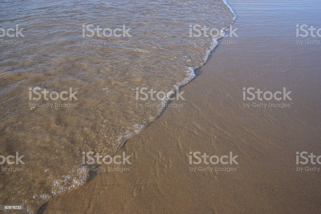 wave's end stock photo