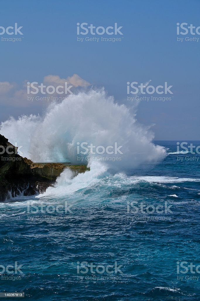 Waves Exploding royalty-free stock photo