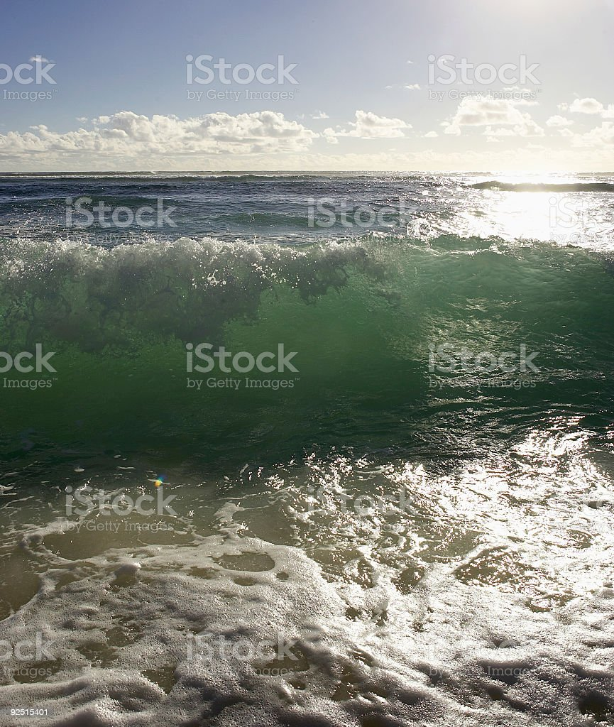 Waves in Cocos Islands - Australia royalty-free stock photo