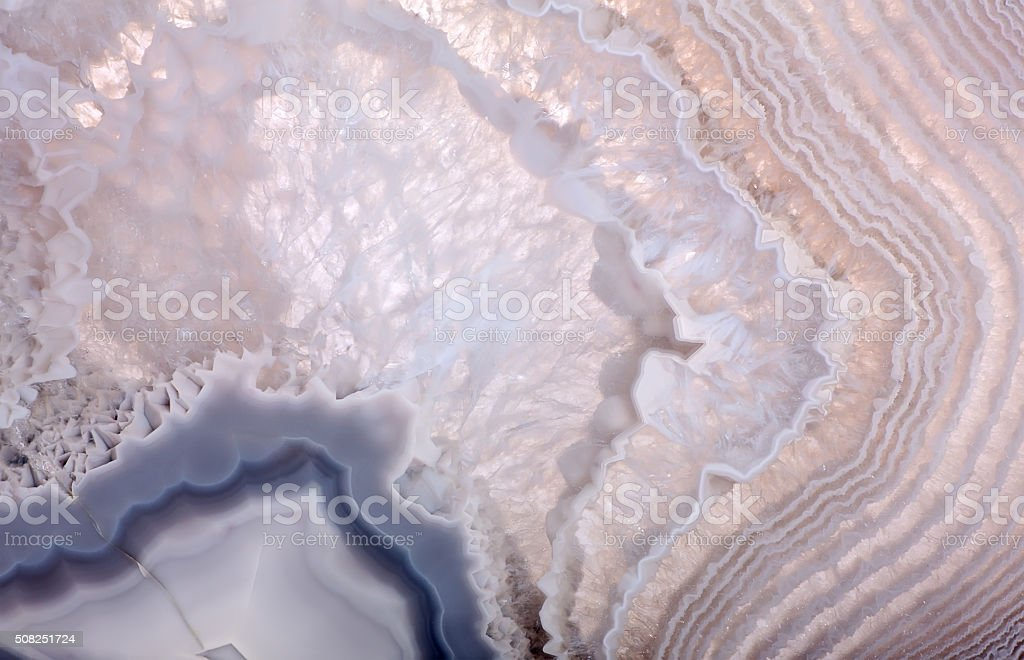 waves in grey agate structure stock photo