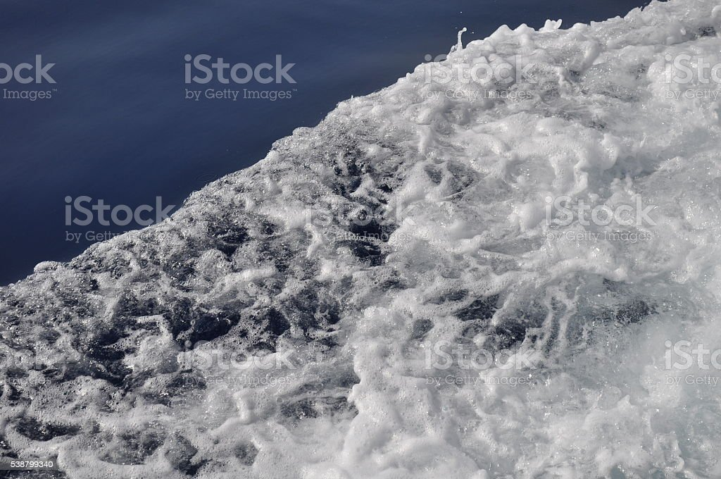 Waves in ocean stock photo