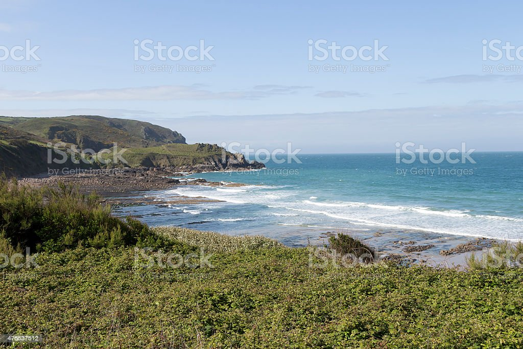 Waves in the bay royalty-free stock photo
