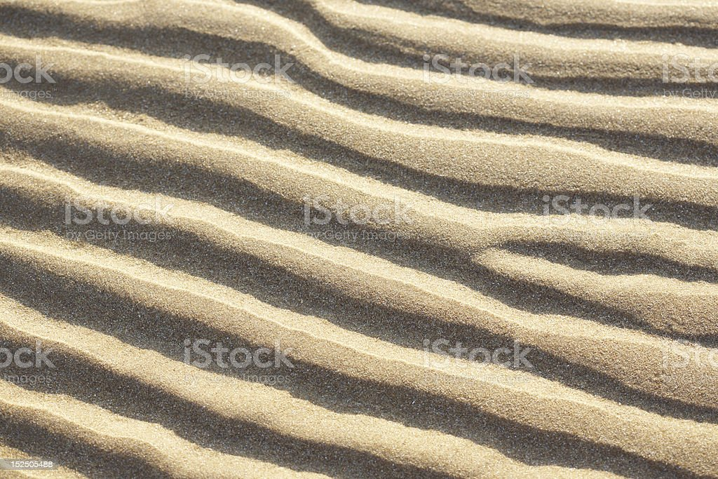 Waves in the sand royalty-free stock photo