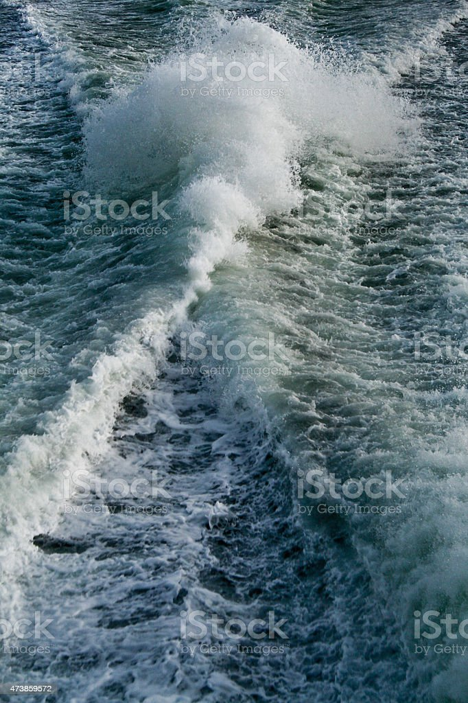 Waves in the water royalty-free stock photo