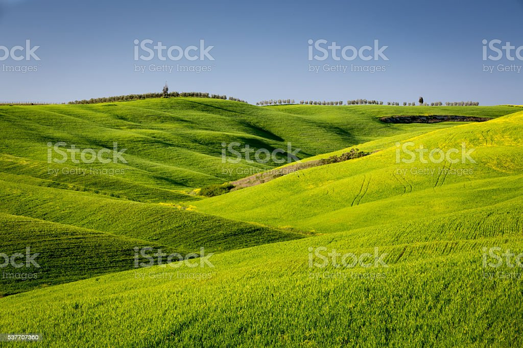 Waves in Tuscany stock photo