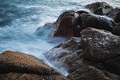 Waves long exposure