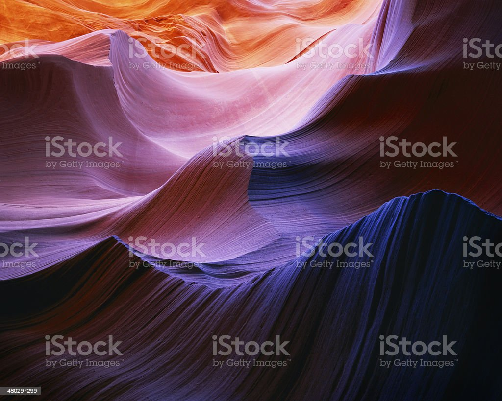 Waves of color, Antelope Canyon stock photo