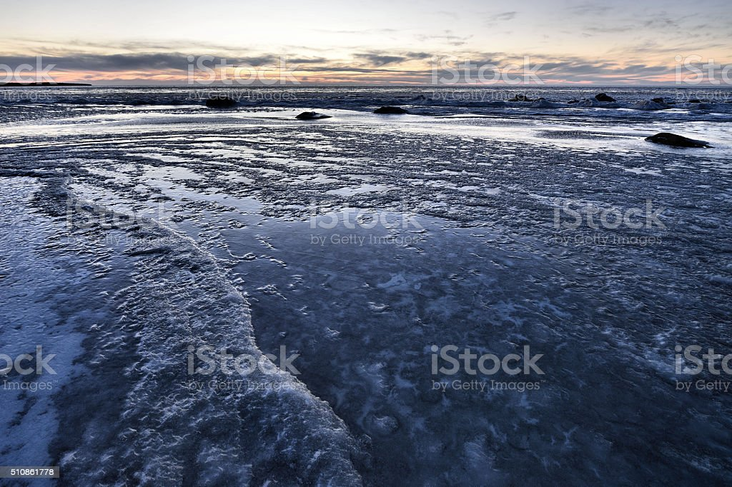 Waves Of Ice stock photo