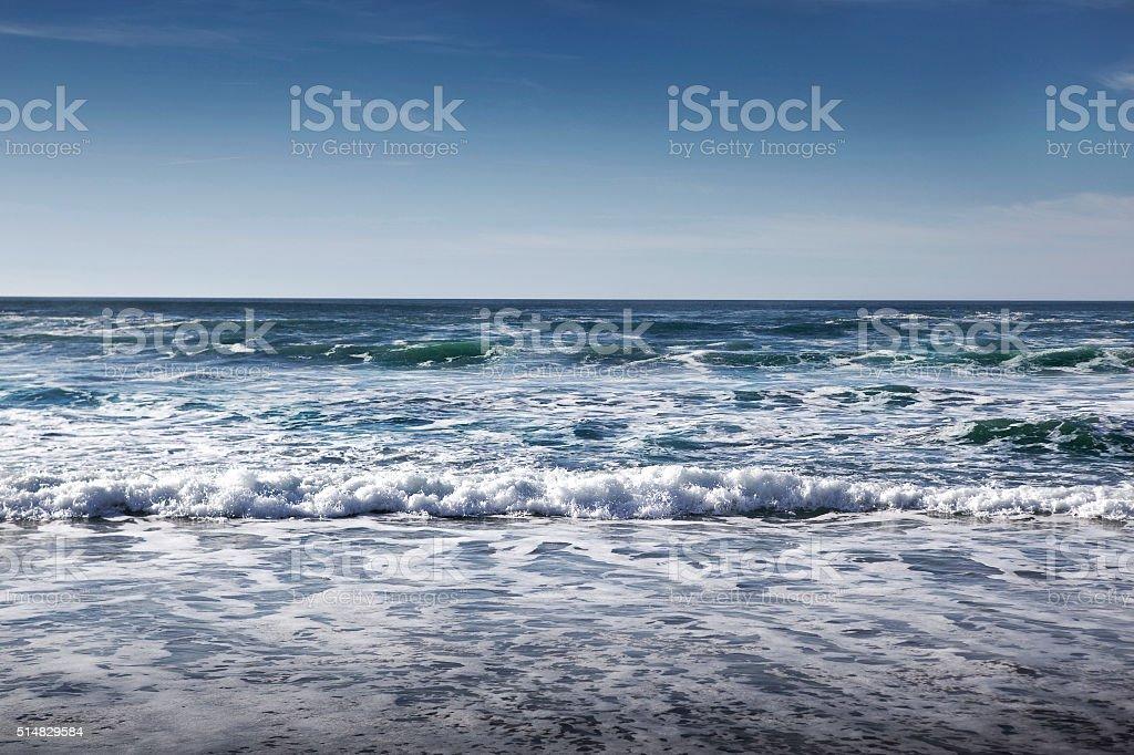 Waves of ocean stock photo