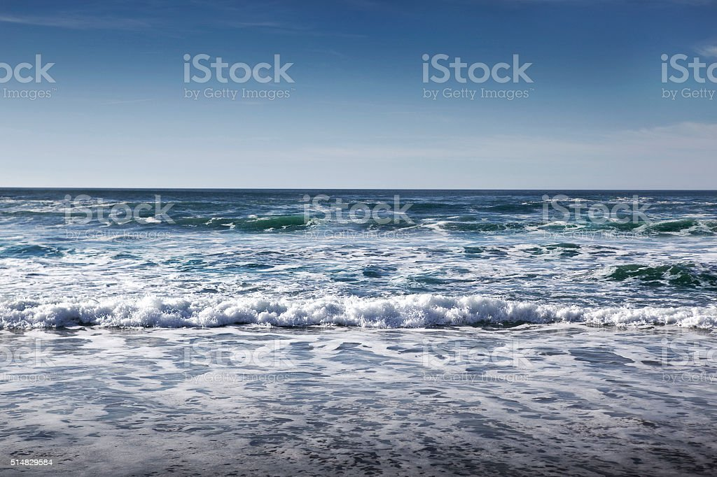 Waves of ocean stock photo