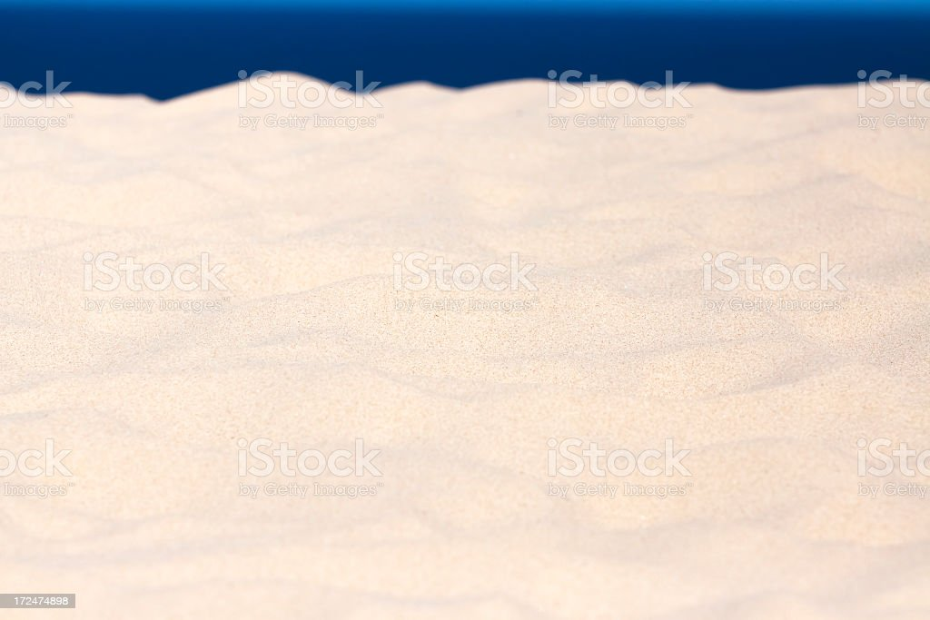 Waves of sand formed by wind, background with copy space royalty-free stock photo