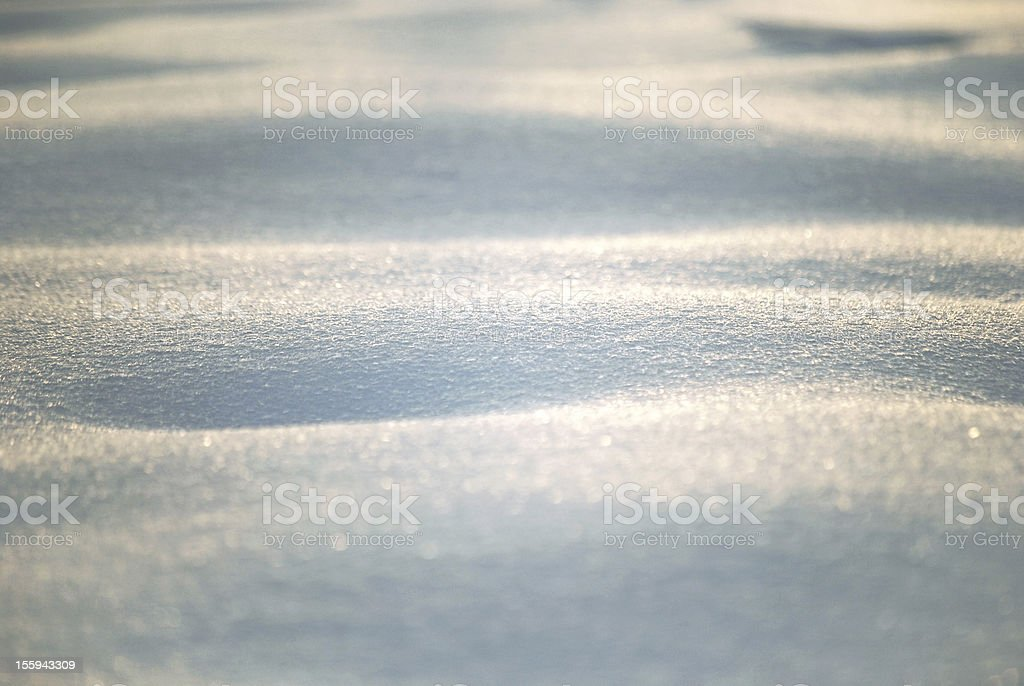 Waves of snow dune royalty-free stock photo